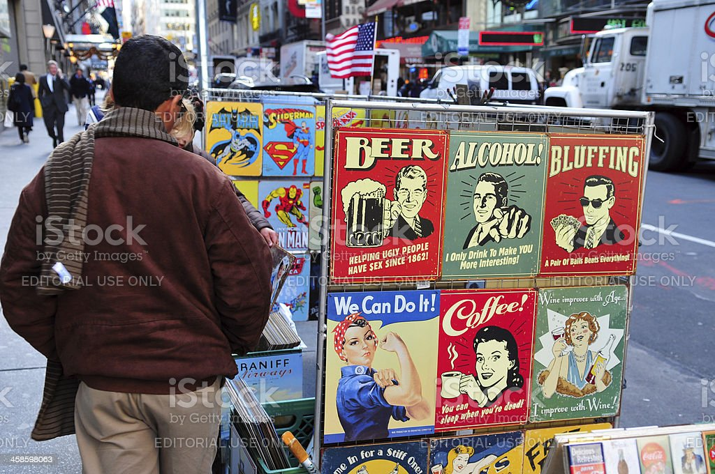Street stall in Manhattan royalty-free stock photo