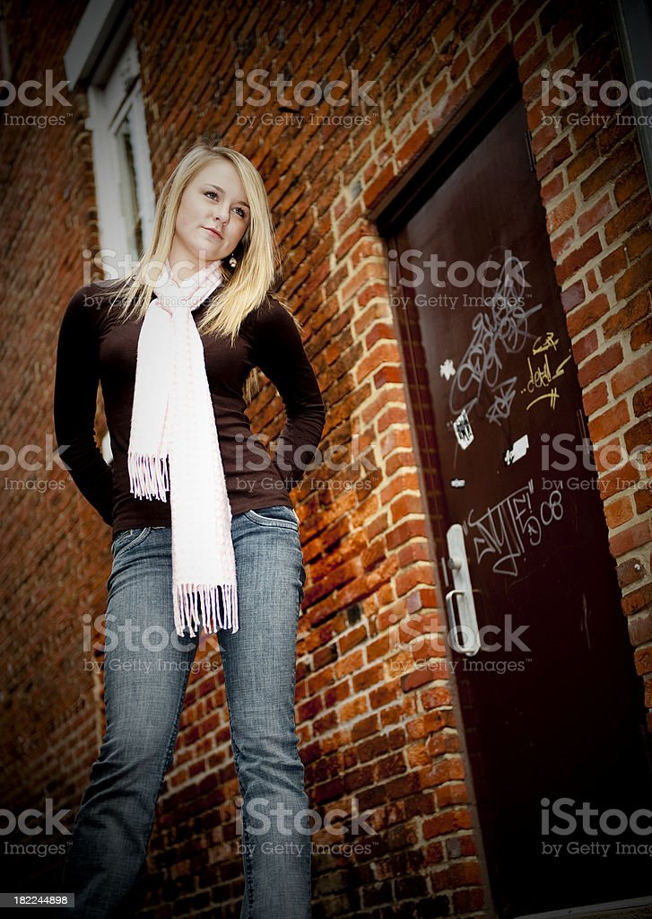Street stance royalty-free stock photo