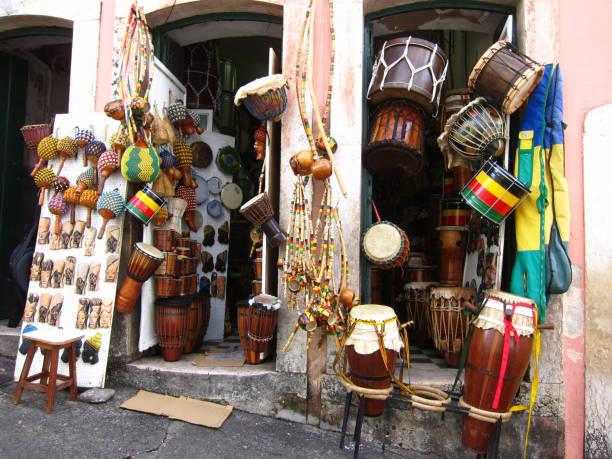 Street Store in Salvador Pelourinho Brazil stock photo