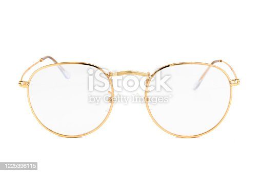 1047544590 istock photo Street Style Oval Reading Glasses Isolated on White Background 1225396115