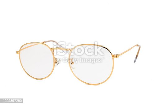 1047544590 istock photo Street Style Oval Reading Glasses Isolated on White Background 1225397280