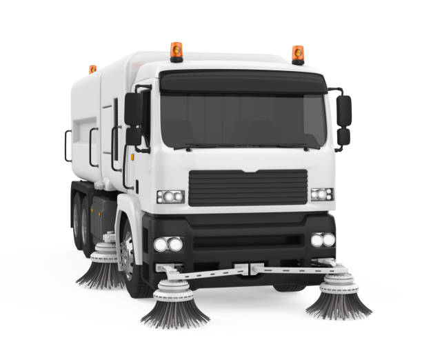 Street Sweeper Machine Isolated Street Sweeper Machine isolated on white background. 3D render street sweeper stock pictures, royalty-free photos & images