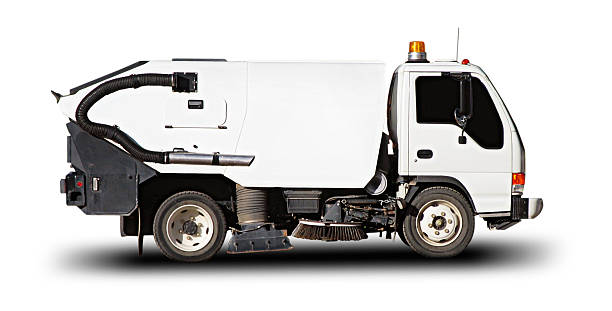 Street Sweeper (with clipping path)  street sweeper stock pictures, royalty-free photos & images