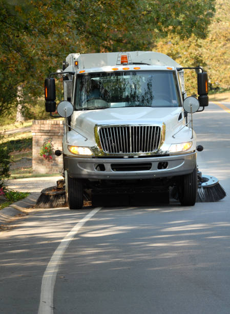 Street Sweeper Keeping it clean street sweeper stock pictures, royalty-free photos & images