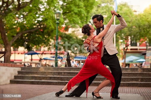 Tango street performers in Buenos Aires.