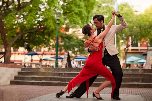 Street Tango Darsteller in San Telmo. – Foto
