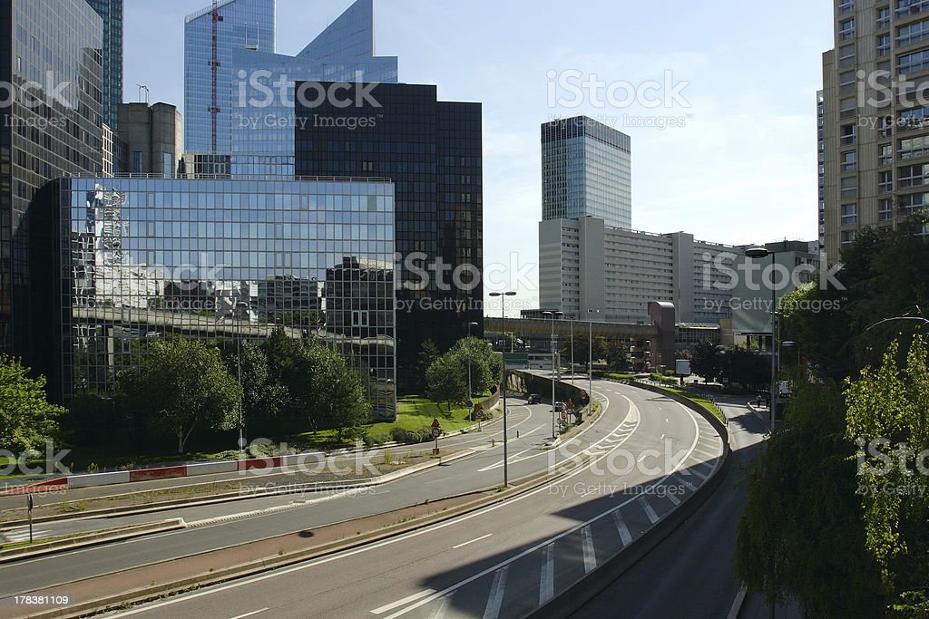 Street Through Business District royalty-free stock photo