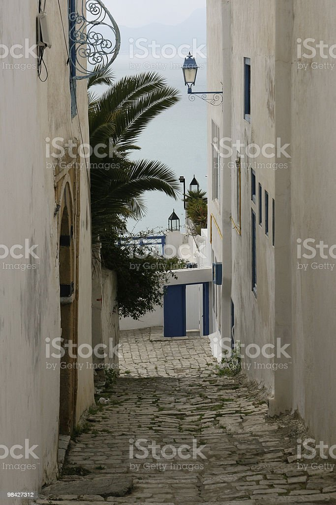 Street to the sea royalty-free stock photo