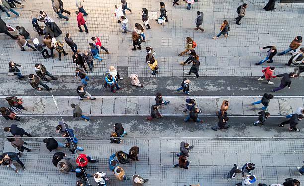 street top view - istiklal avenue bildbanksfoton och bilder