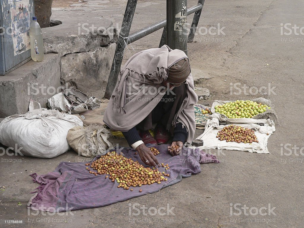 Street trader in Jaipur, Rajasthan, India royalty-free stock photo