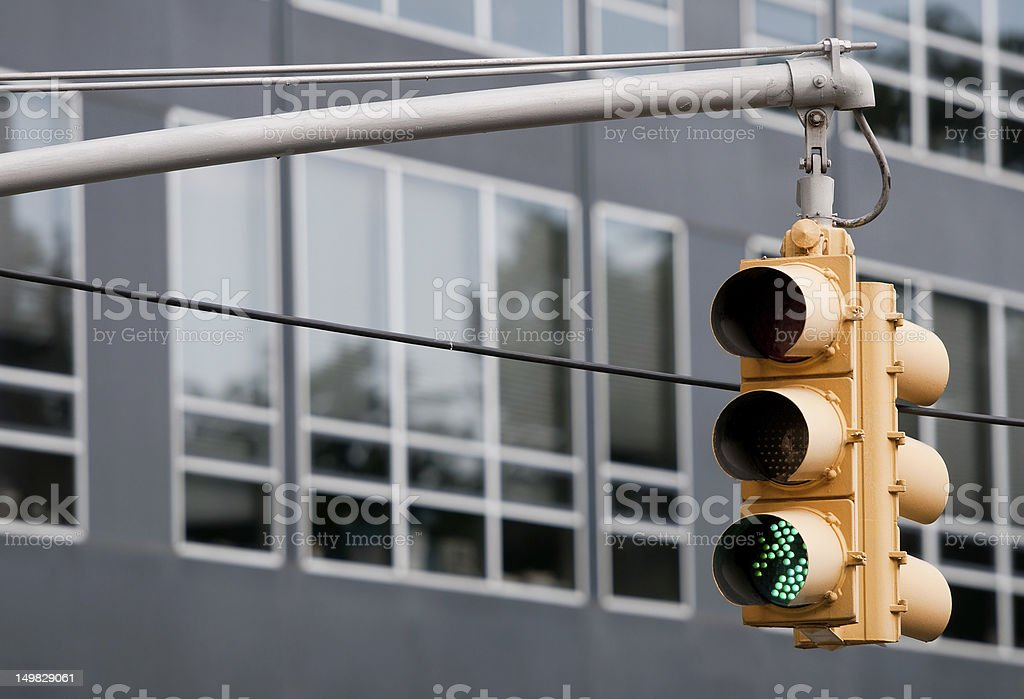 Street Traffic lights Street Traffic lights from New York city street. Advice Stock Photo