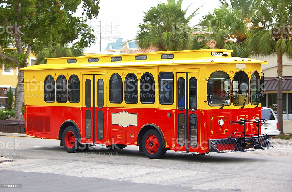 Street trolley powered by biodiesel royalty-free stock photo
