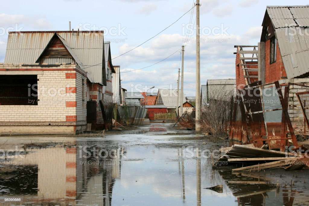 Street under water royalty-free stock photo