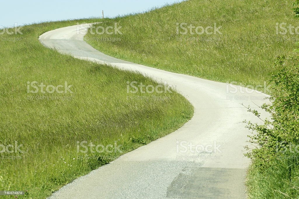 street up to the hill royalty-free stock photo