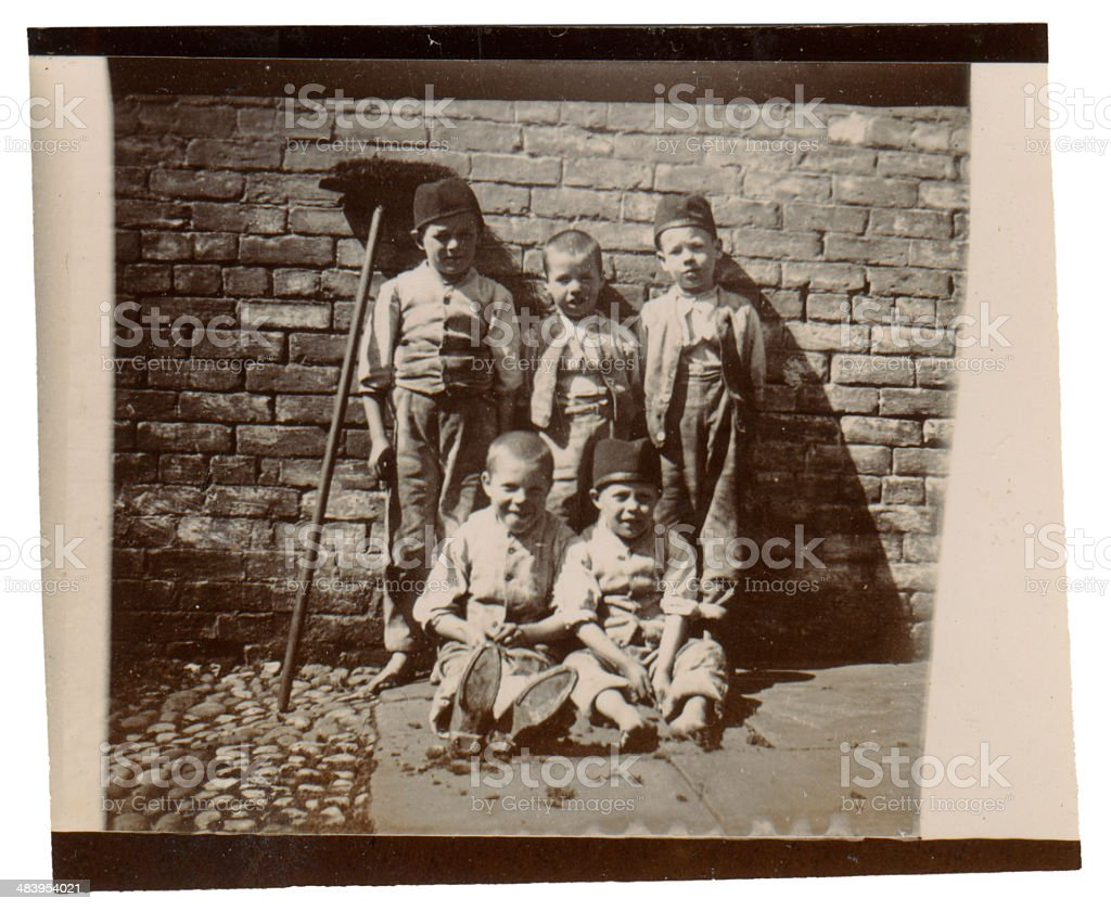 Street urchins stock photo
