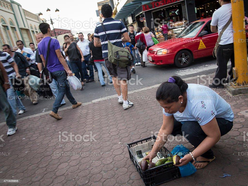 Street Vendor in San Jose Costa Rica royalty-free stock photo