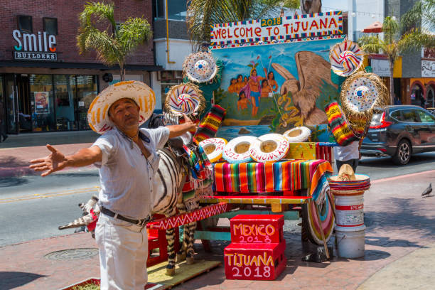 Street Vendor in Tijuana, Mexico stock photo