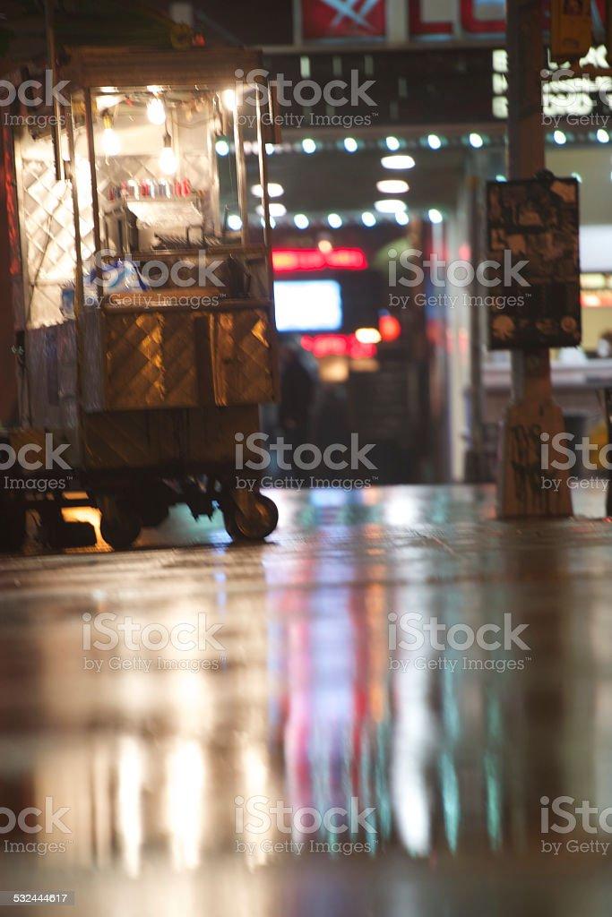 Street Vendor Reflections stock photo