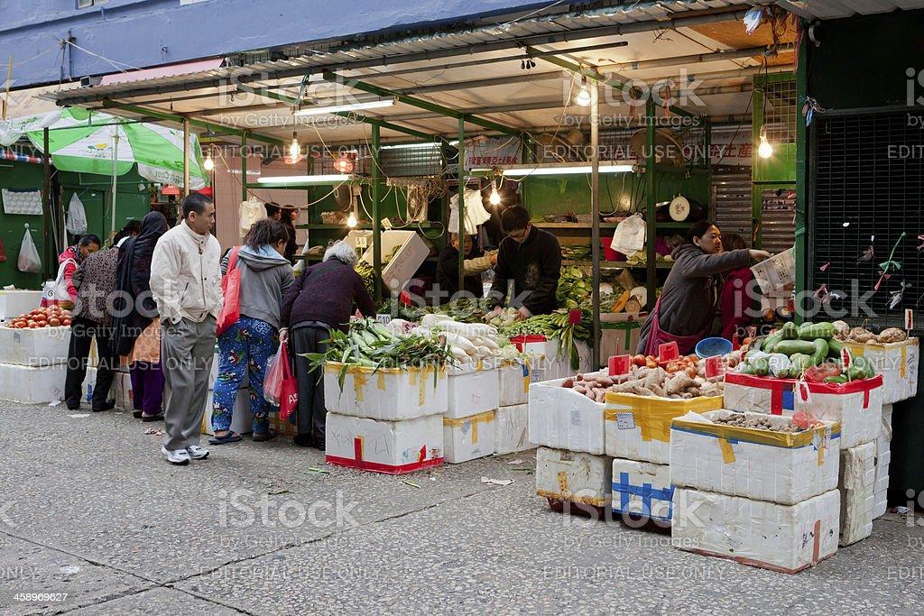 Street vendors in Hong Kong royalty-free stock photo