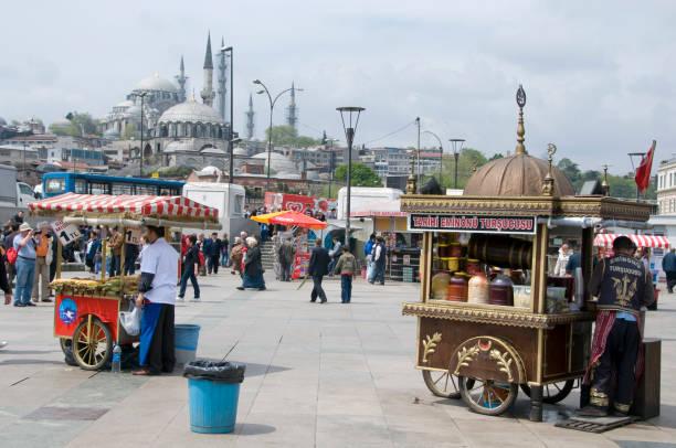 Vendedores ambulantes en Estambul - foto de stock
