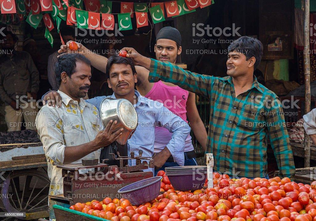 Street vendors stock photo
