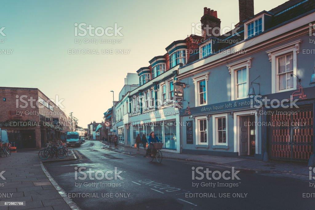 Street View at Cambridge, UK stock photo