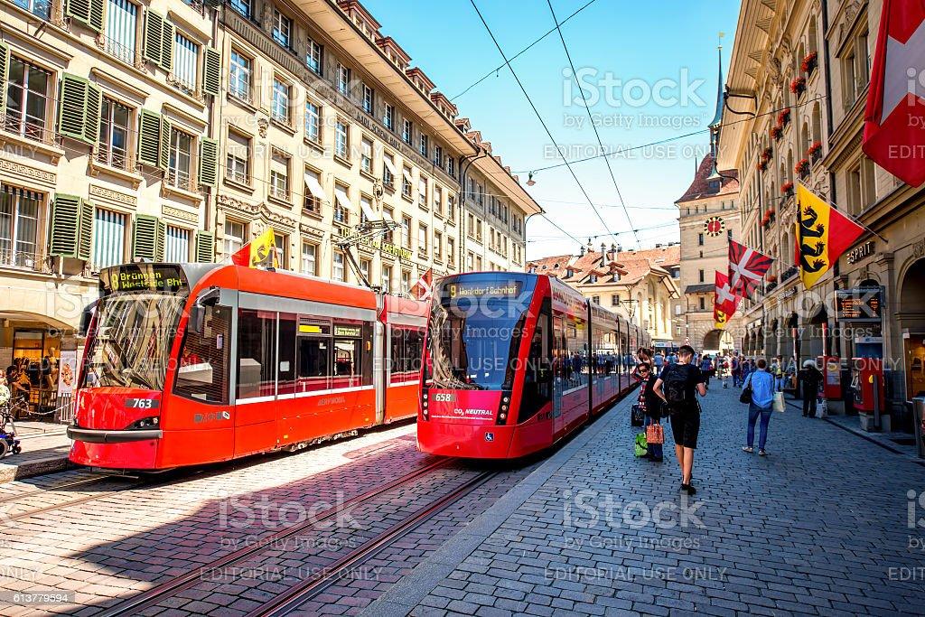 Street view in Bern city – Foto
