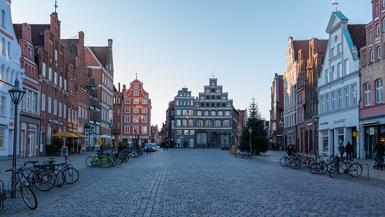 Street View In Luneburg Germany Am Sande Region Stock Photo - Download Image Now