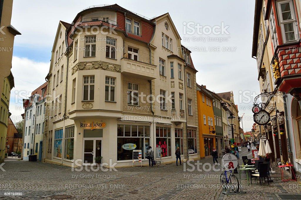 Street view in Naumburg. stock photo
