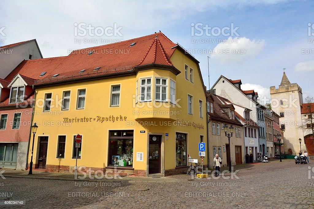 Street view in Naumburg stock photo