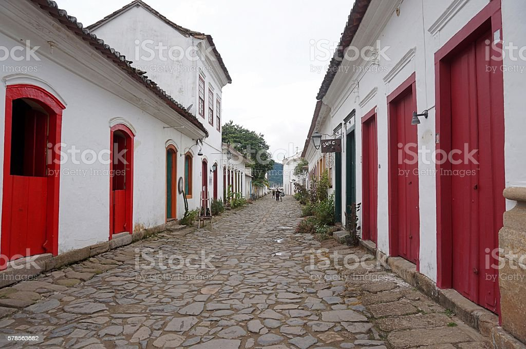 Street view in Paraty stock photo