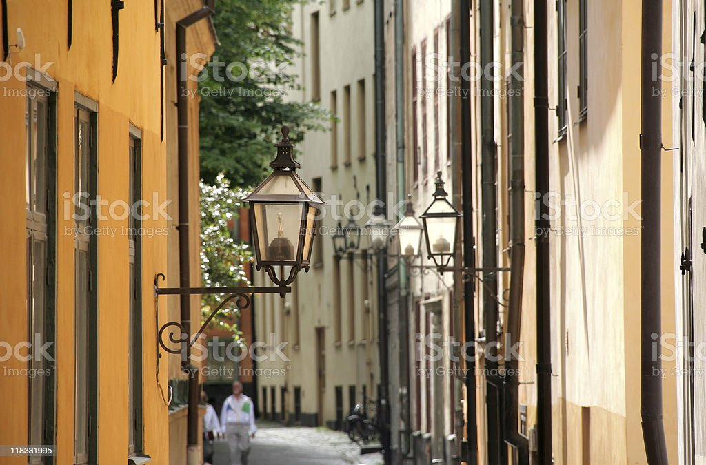 Street view in Stockholm, Sweden royalty-free stock photo
