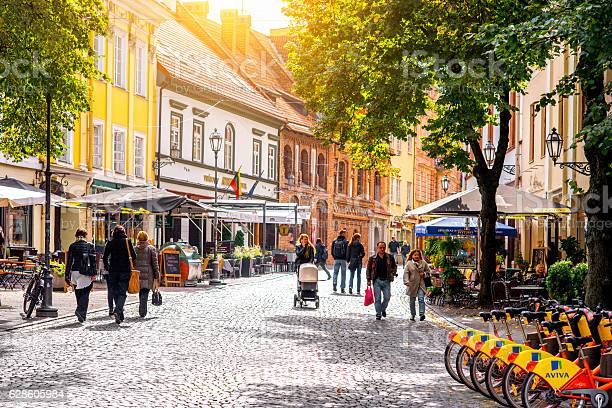 Street View In Vilnius Stock Photo - Download Image Now
