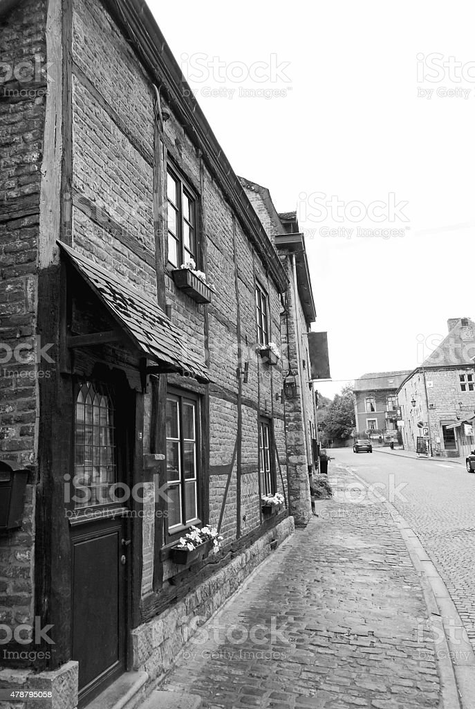 Street view of ancient city of Durbuy stock photo