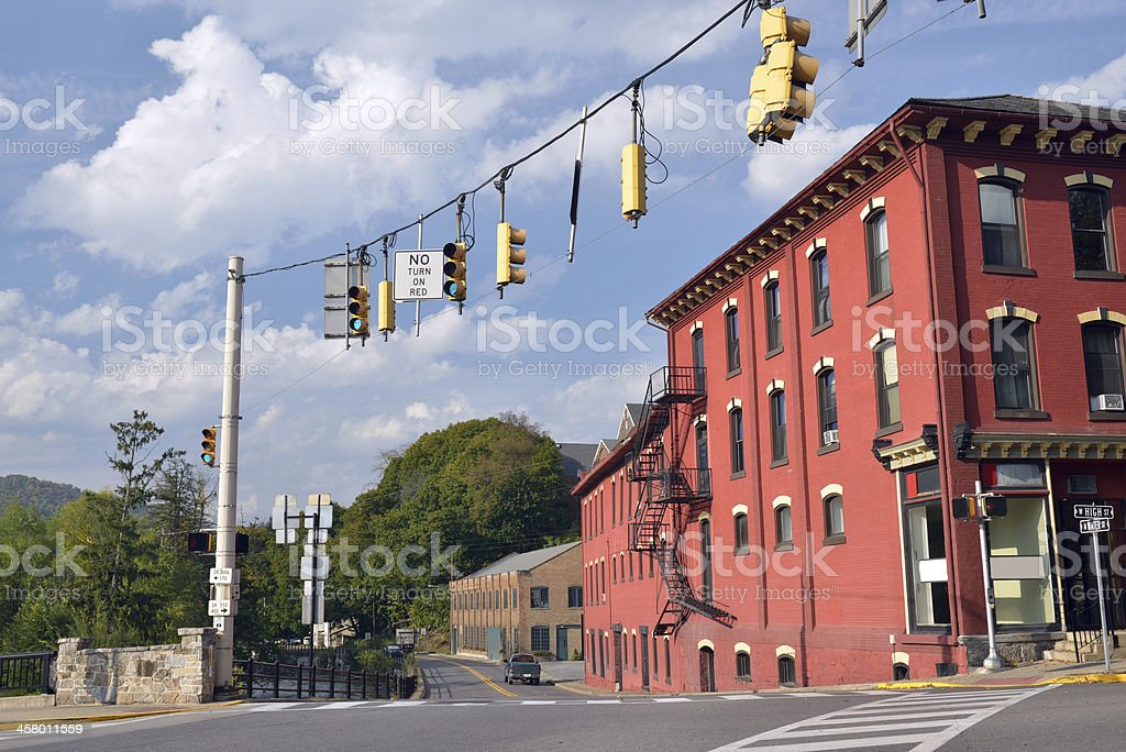 Street View of Bellefonte royalty-free stock photo