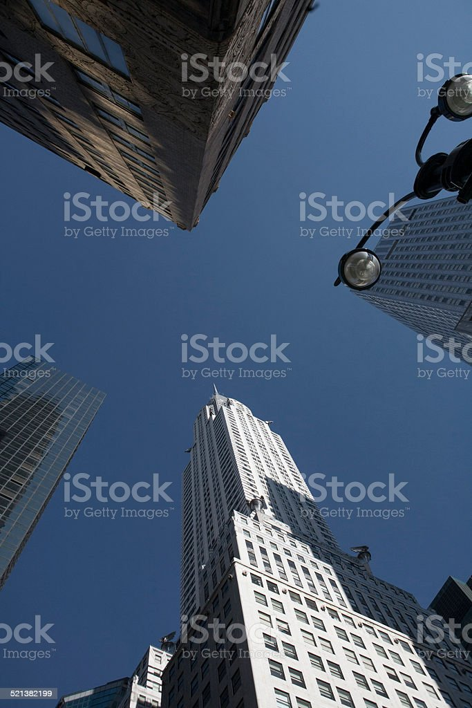 Street view of Chrysler Building, New York City stock photo