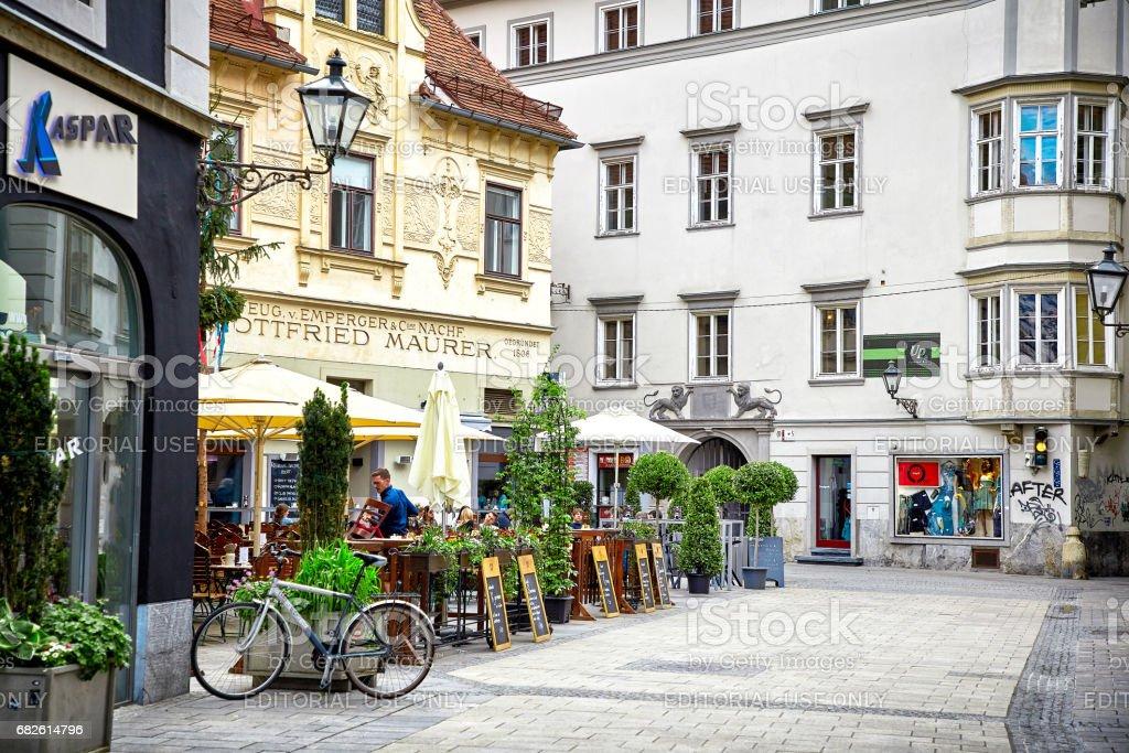 Street view of Graz stock photo