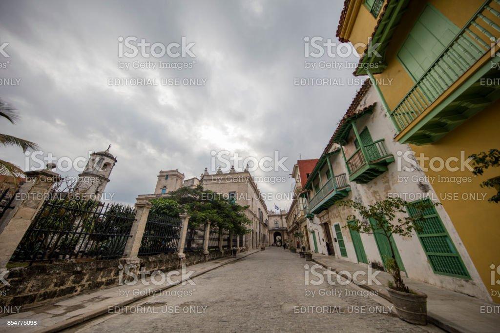Street View of havana, cuba stock photo