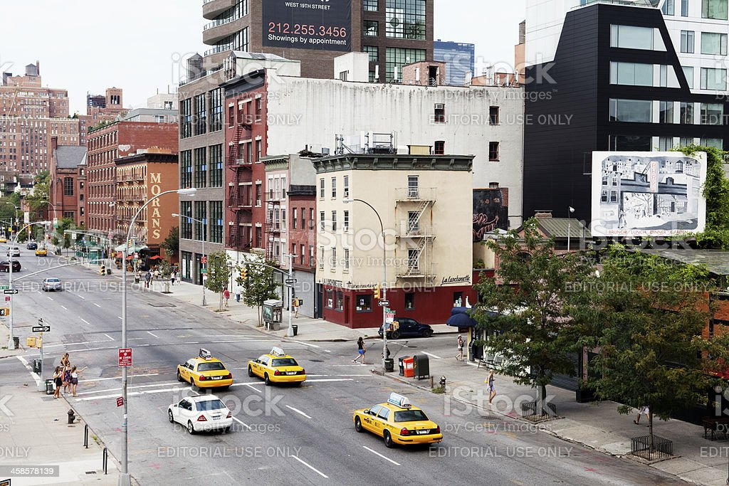 Street view of New York City. royalty-free stock photo