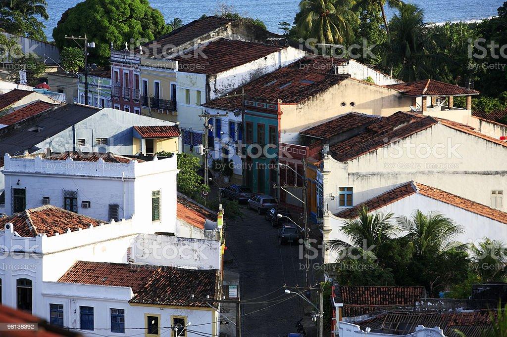 street view of olinda pernambuco brazil royalty-free stock photo
