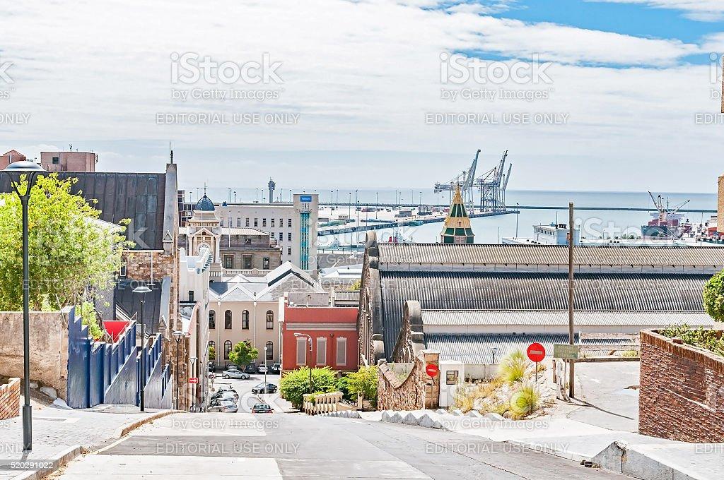 Street view of Port Elizabeth stock photo