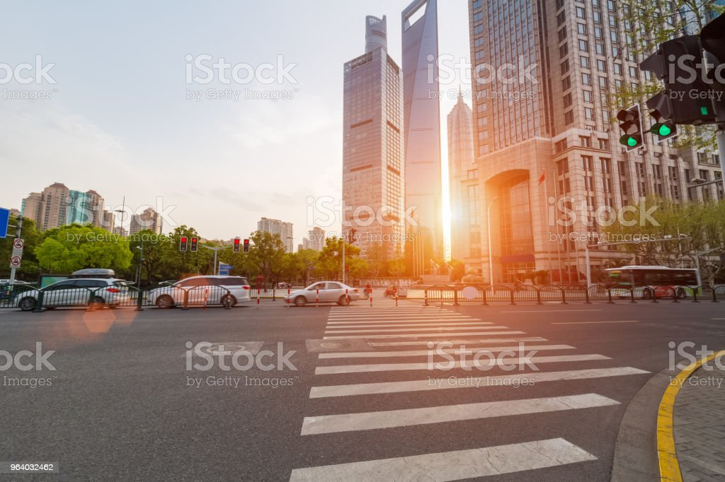 street view of shanghai century avenue - Royalty-free Architecture Stock Photo