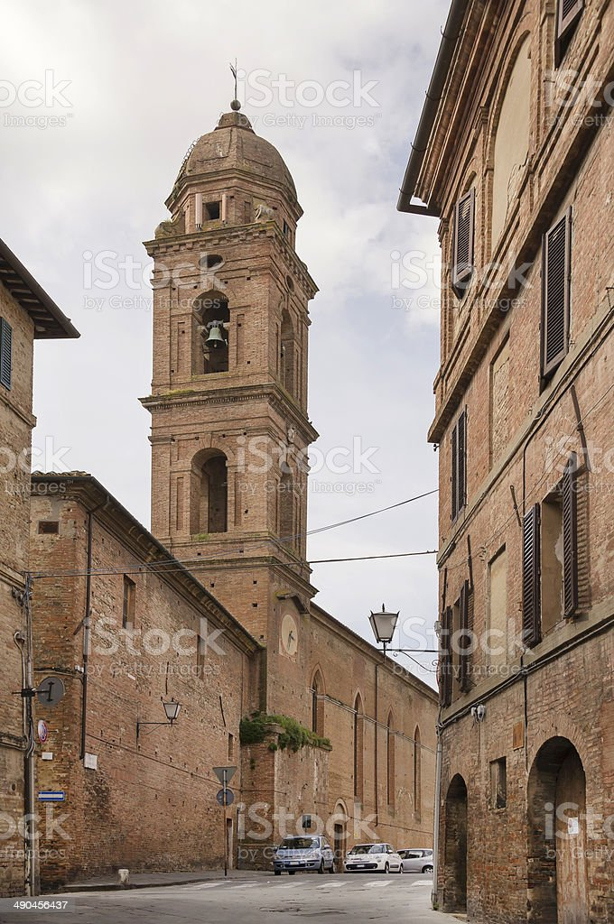 Street View of Siena royalty-free stock photo