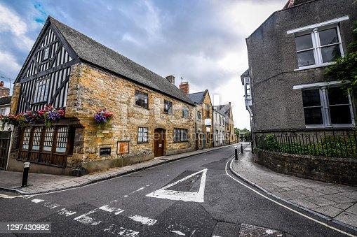 istock Street View Of Town Buildings In Sherborne, UK 1297430992