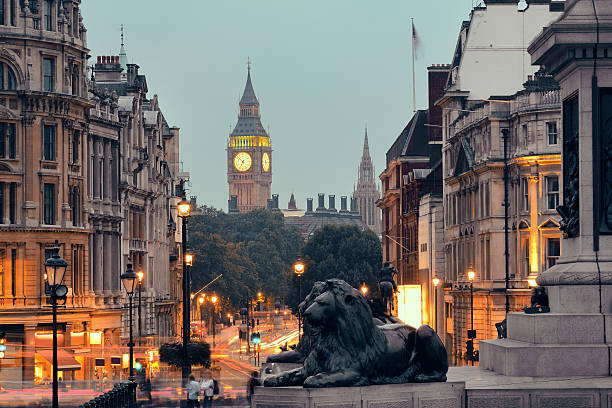Street Blick auf den Trafalgar Square – Foto