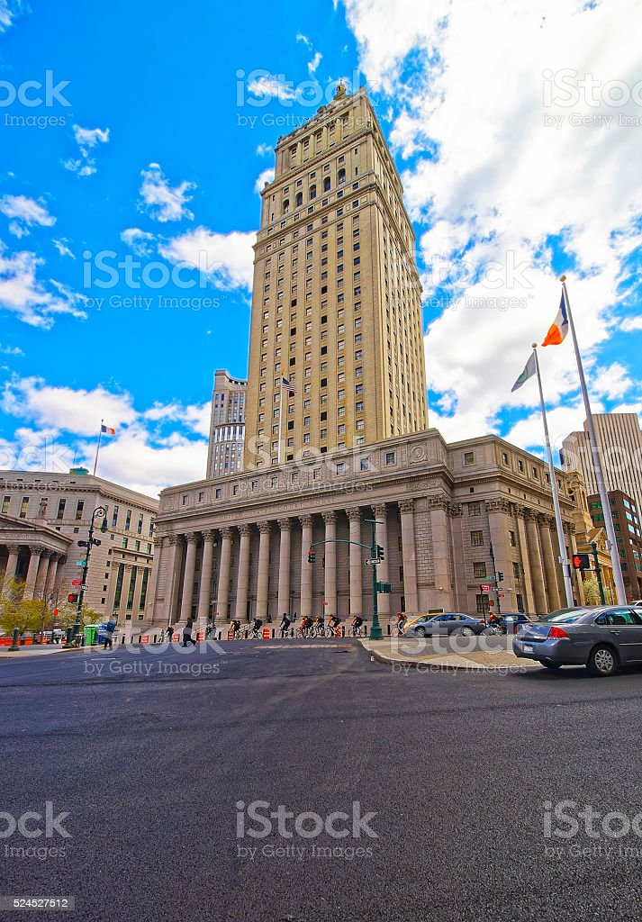 Street view on Thurgood Marshall United States Courthhouse stock photo