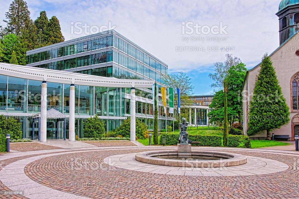 Street view to Caracalla Spa building in Baden-Baden stock photo