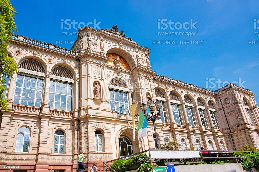 Street view to Friedrichsbad Spa in Baden-Baden stock photo
