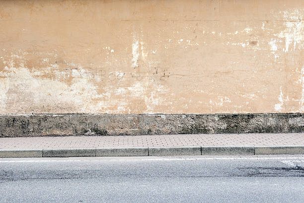 sfondo della parete - marciapiede foto e immagini stock