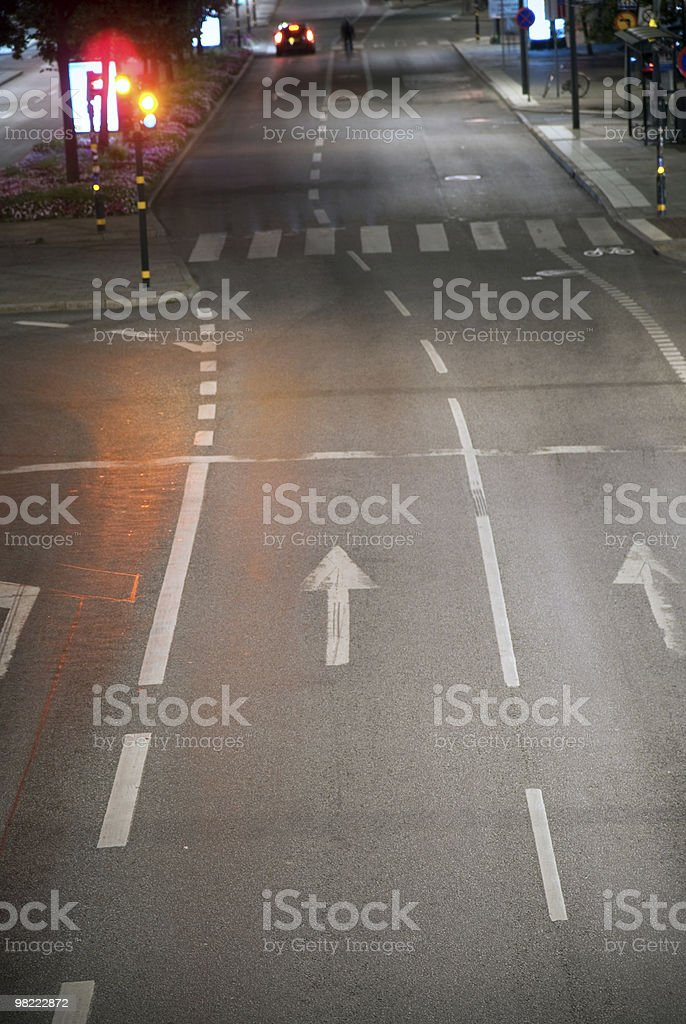 Street with arrows royalty-free stock photo
